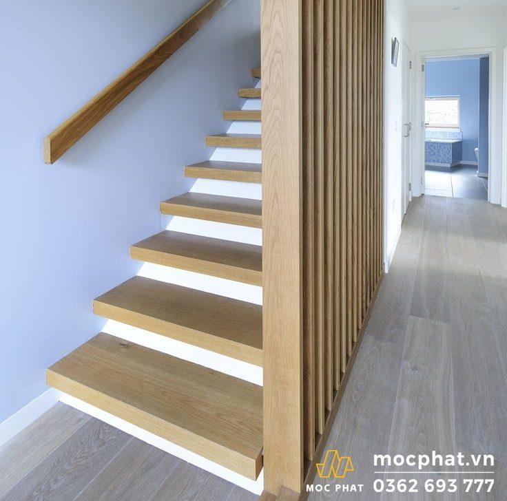 mặt cầu thang gỗ