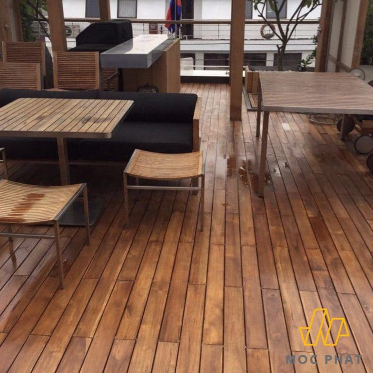 Sàn gỗ chịu nước Teak Lào