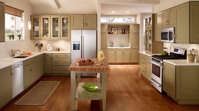 hình ảnh sàn gỗ nhà bếp