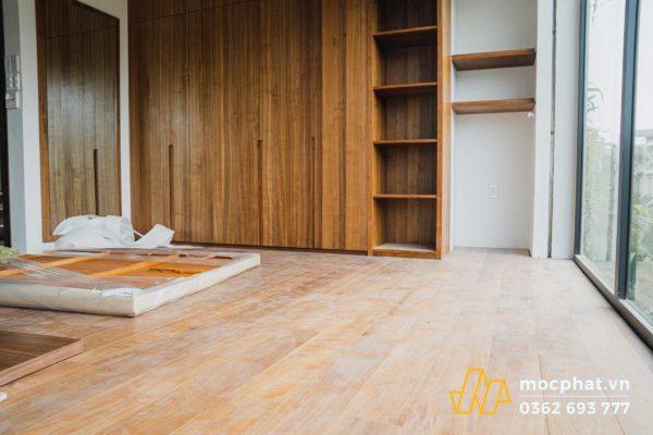 sàn gỗ tự nhiên trong nhà