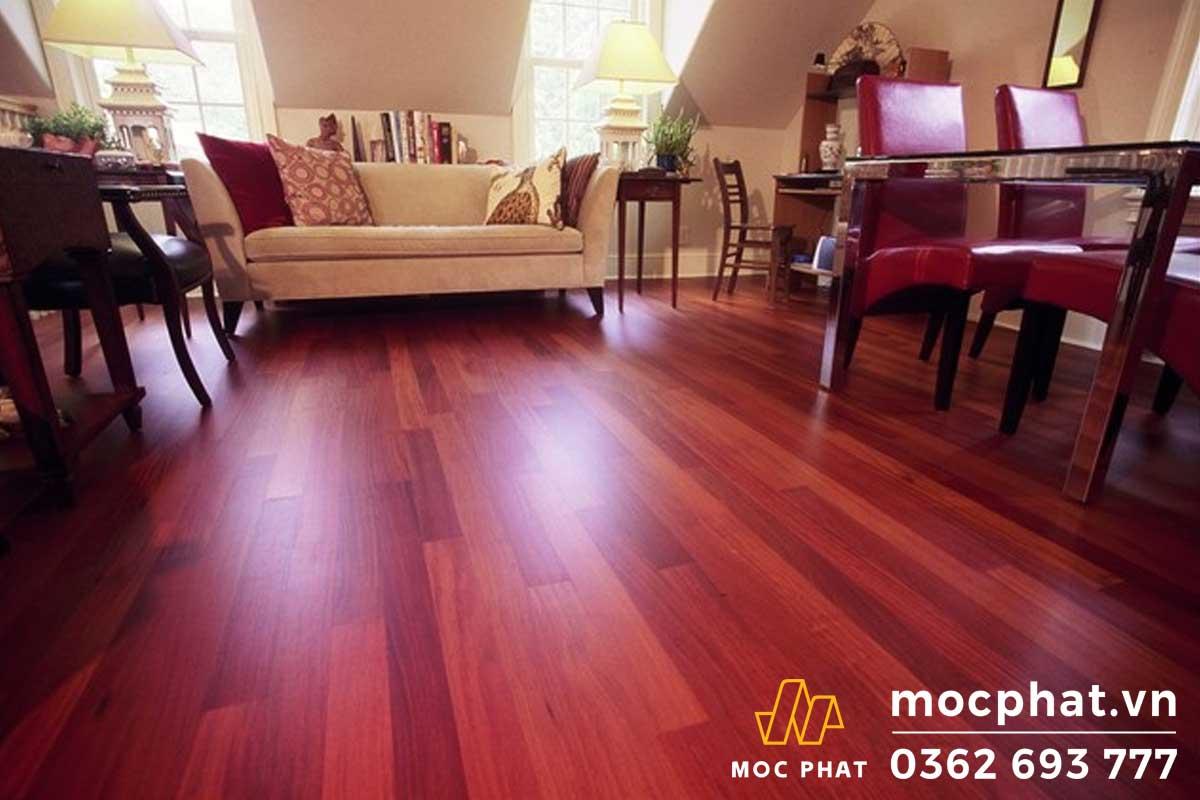Sàn gỗ có độ bền cao và khả năng chống mối mọt tốt