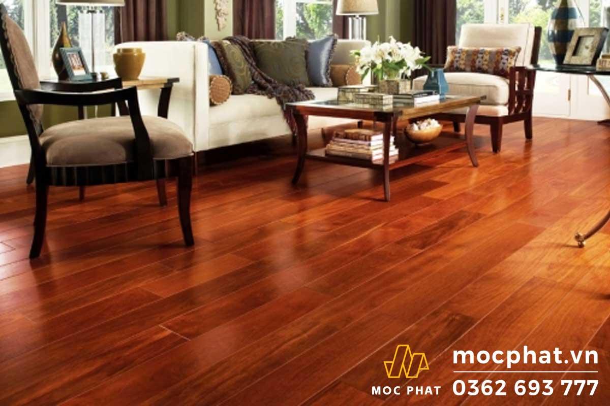 Sàn gỗ hương đỏ Lào