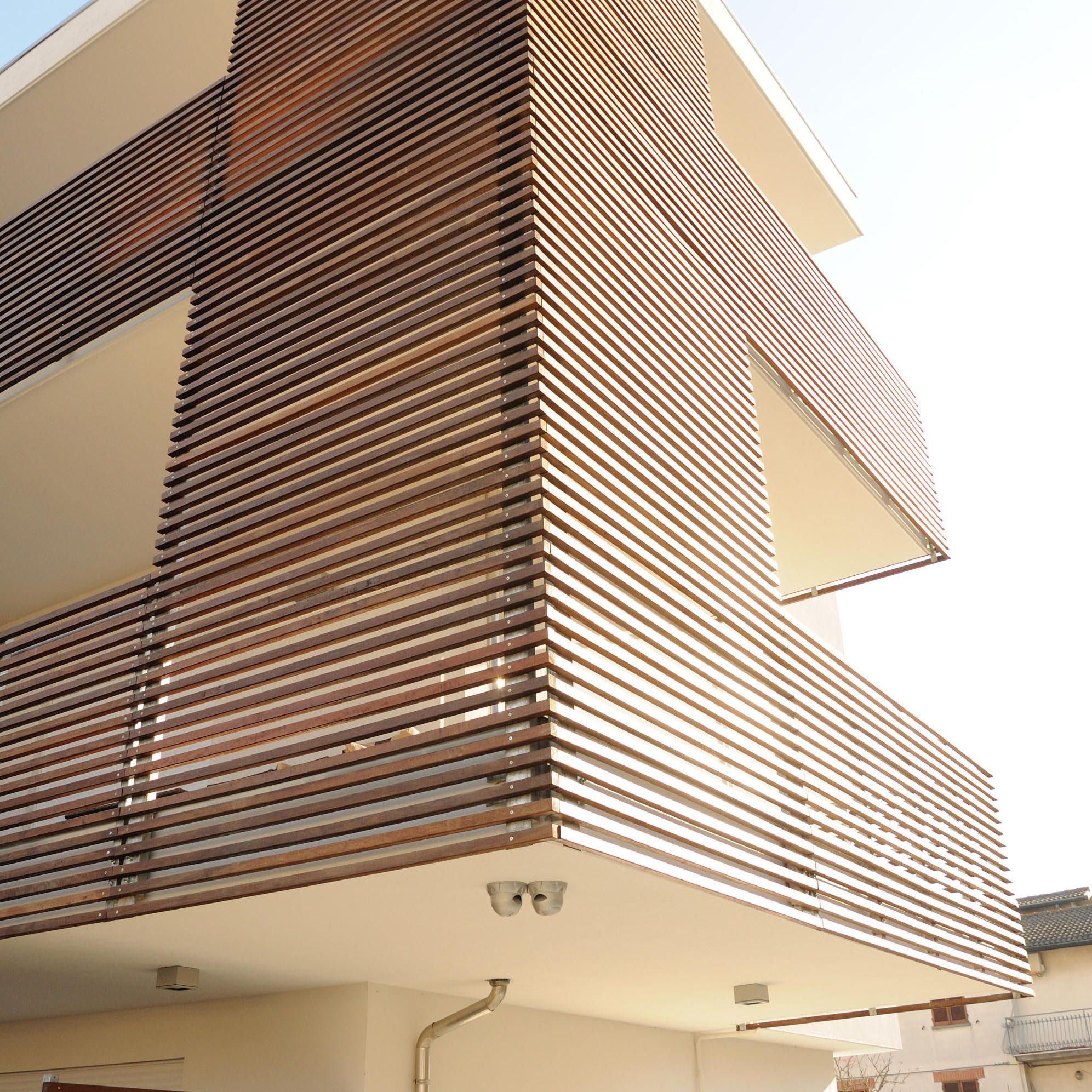 Lam chắn nắng gỗ nhựa hình hộp