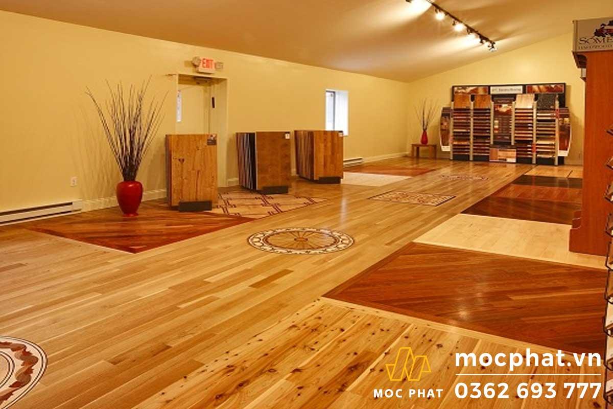 Lát sàn gỗ tự nhiên trên ván ép