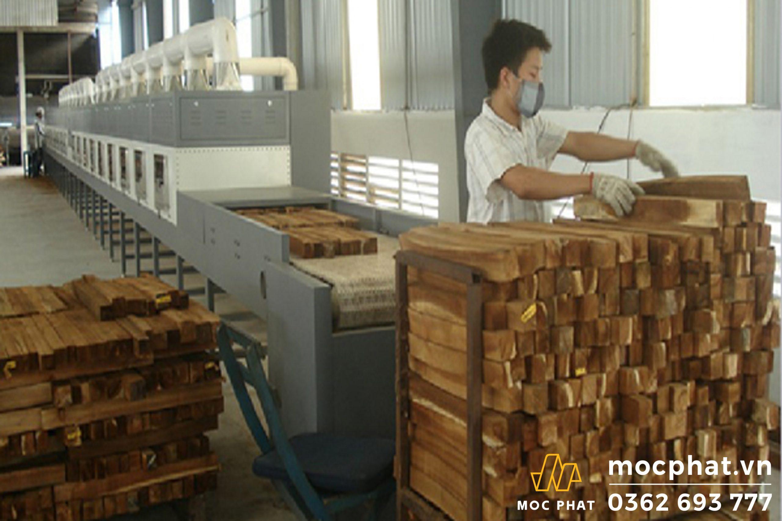 Phương pháp sấy gỗ trong môi trường có nhiệt độ cao
