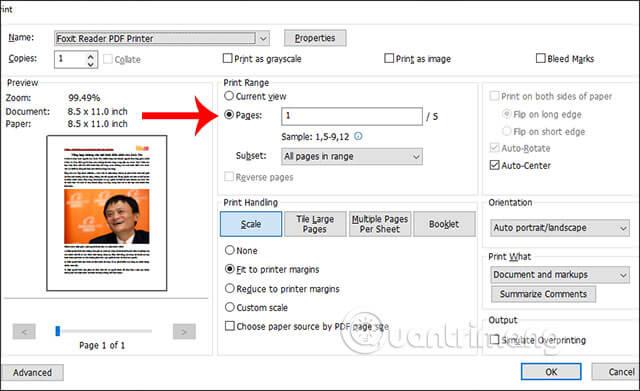 Hướng dẫn các bước cắt một phần file PDF