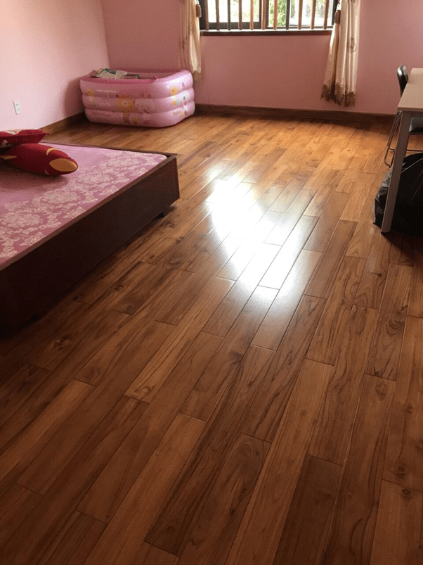Hình ảnh sàn gỗ teak lào
