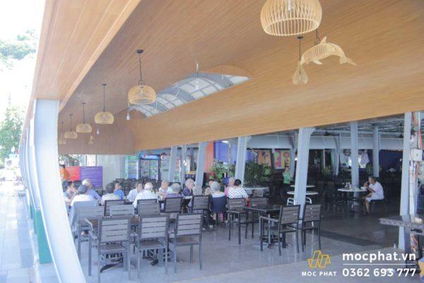 Hình ảnh công trình hoàn thành gần 80% tại nhà hàng Gành Hào