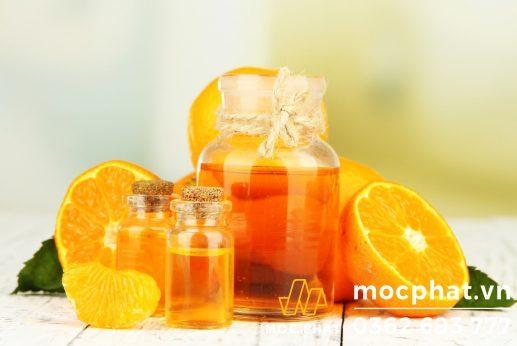 vỏ cam khử mùi gỗ mới