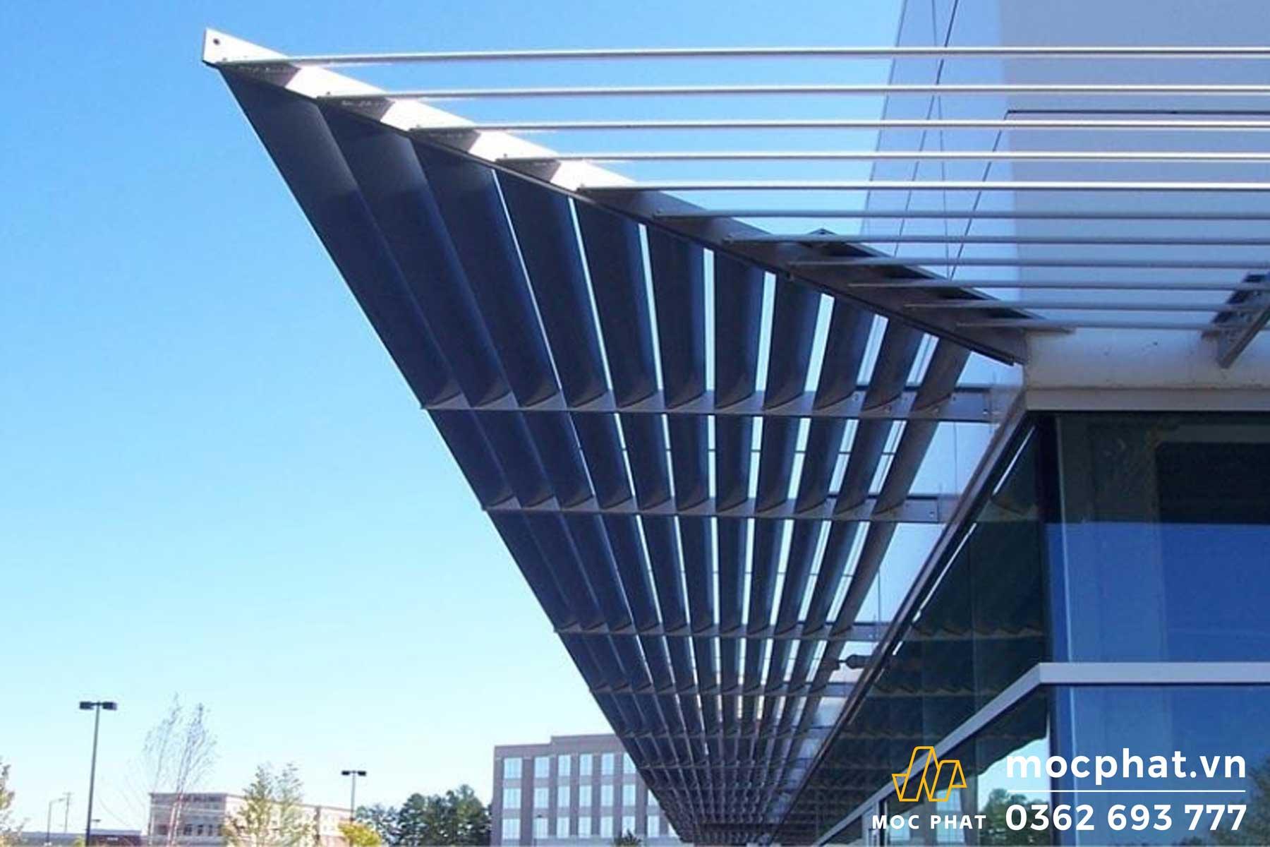 Hình ảnh công trình làm nhôm che nắng