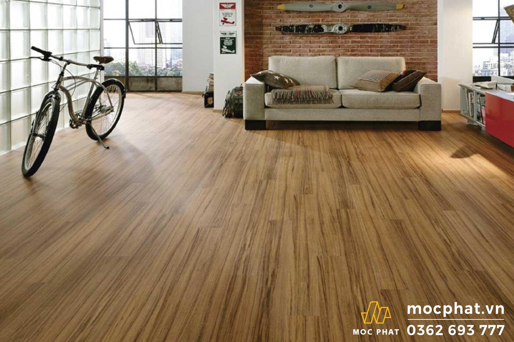 Sàn gỗ MDF phủ laminate có độ bền cao