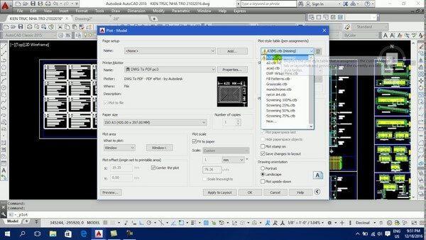 Sử dụng Export File để chuyển file bản vẽ từ DWG sang PDF