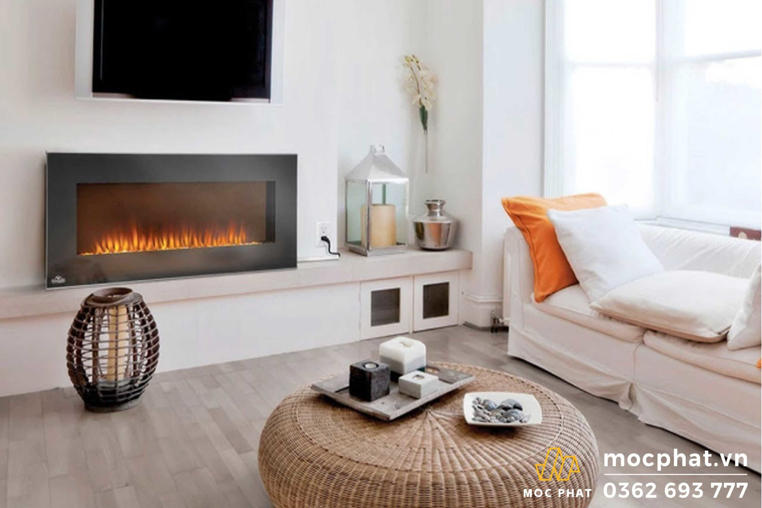 Sử dụng lò sưởi điện để tăng nhiệt cho căn phòng - Cách làm nền nhà không bị nồm