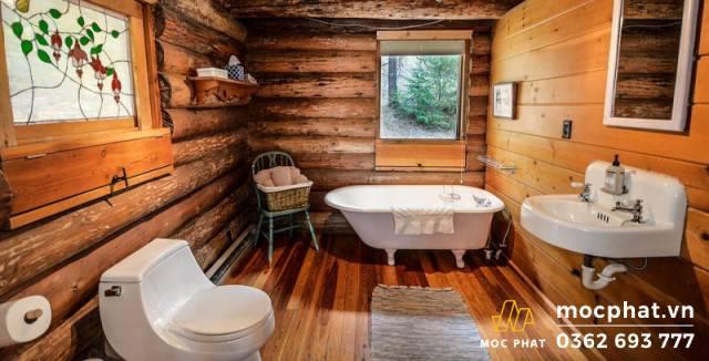 Sàn gỗ cho nhà tắm phải đảm bảo được tính an toàn và bền vững