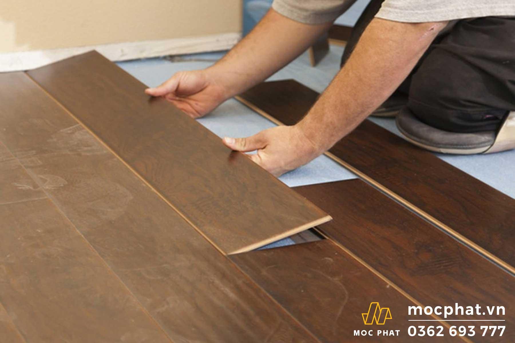 Cách xử lý sàn gỗ công nghiệp trong nhà bị thấm nước