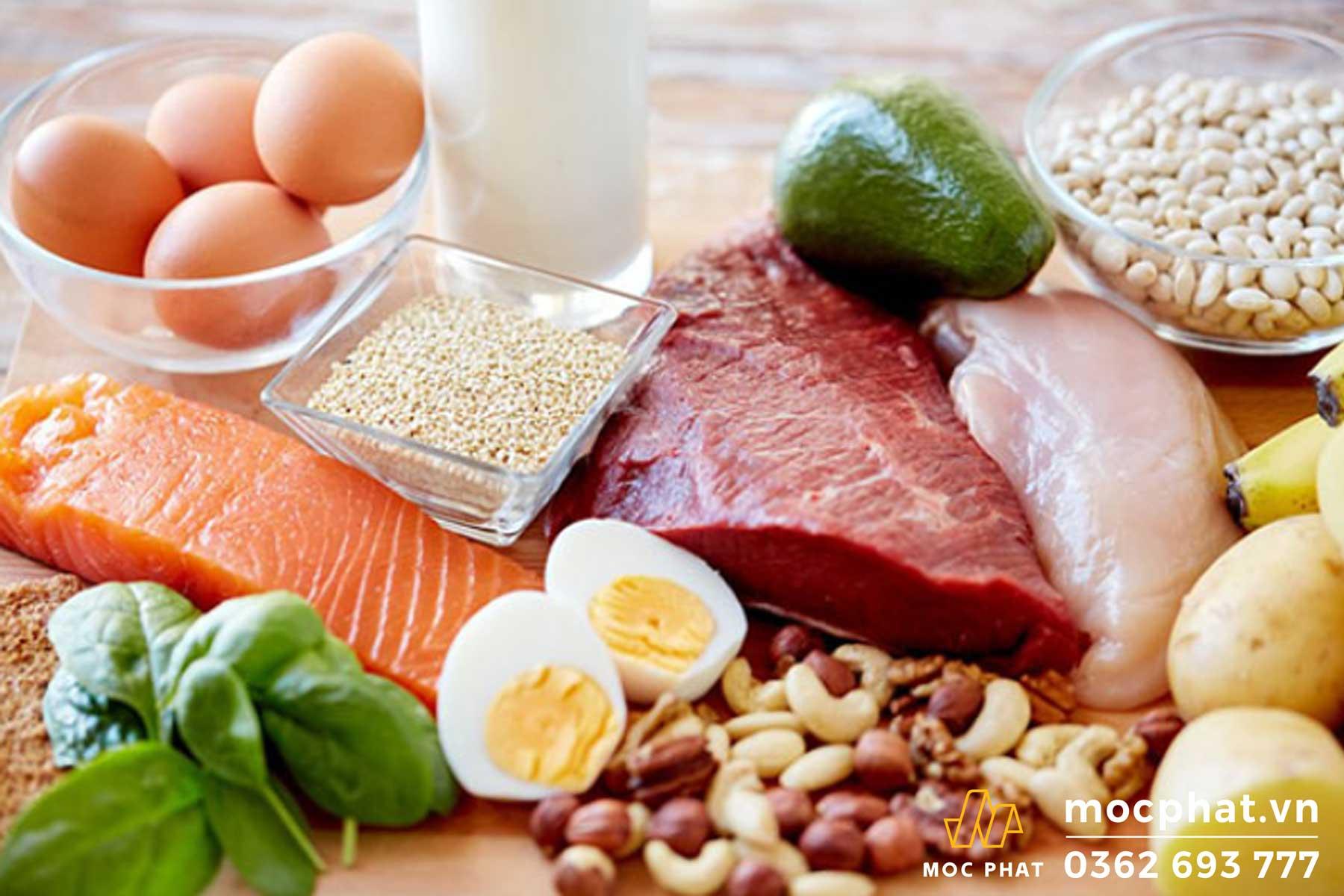 Bổ sung thực phẩm có hàm lượng protein và vitamin cao