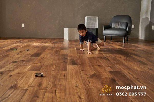 Sàn gỗ Engineer được sử dụng trong nhà
