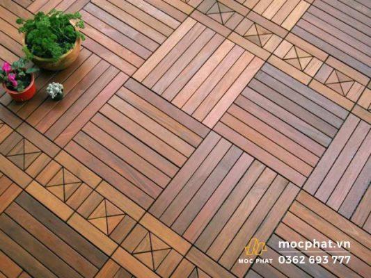 Hình ảnh sàn gỗ lát kiểu giỏ dệt