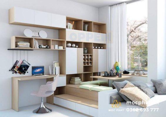 Phòng ngủ homestay Minimalist tươi mới và hiện đại