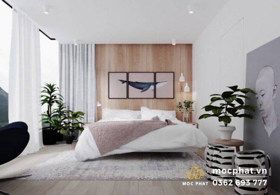 Nội thất phòng ngủ được đơn giản hóa