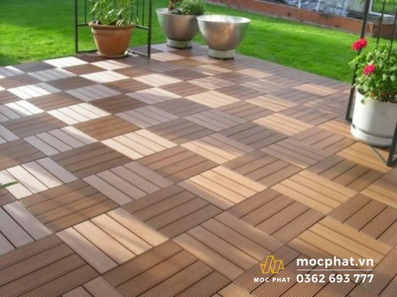 Sàn gỗ nhựa thi công các công trình ngoài trời