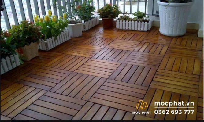Hình ảnh sàn gỗ ban công