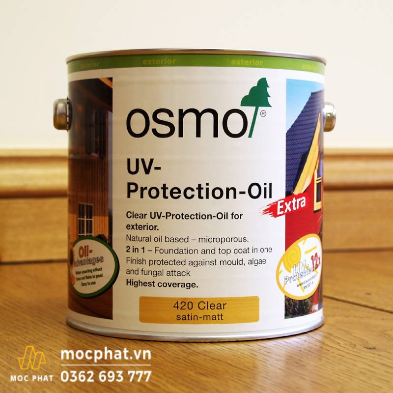 Sơn dầu lau Osmo là một trong các kỹ thuật dưỡng gỗ tiên tiến