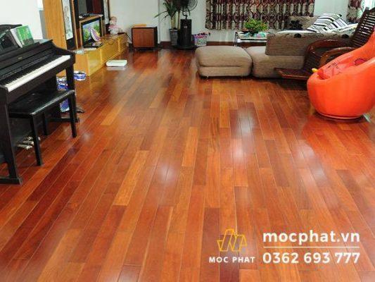 Sàn gỗ tự nhiên luôn sáng và bền đẹp