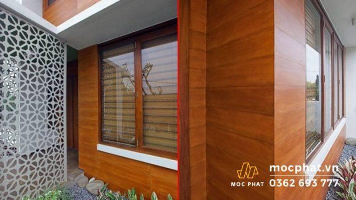 Tấm ốp tường composite giả gỗ ngoài trời có thể chịu lực, chịu nhiệt, chống ẩm tốt