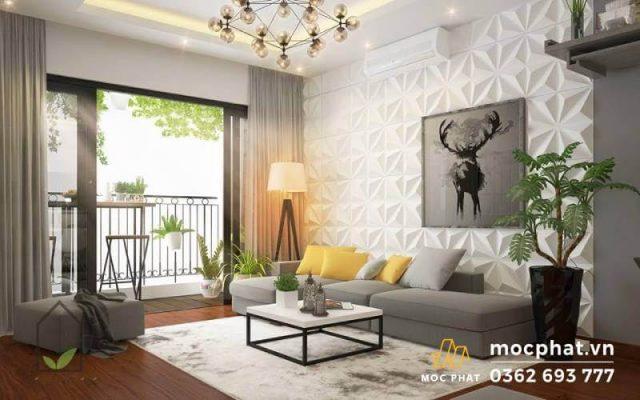 Lắp đặt sàn gỗ tự nhiên trong phòng khách