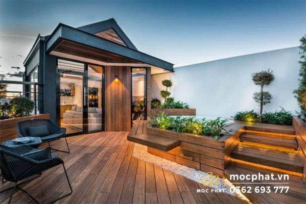 Thiết kế sân thượng phong cách terrace