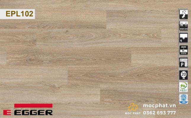 Sàn gỗ Egger phong cách vintage màu vàng sáng cho những ai chuộng sự đơn giản