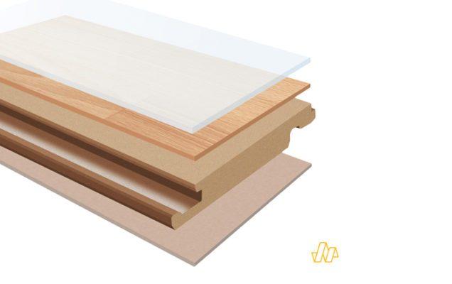 Cấu tạo 5 lớp của sàn gỗ Hornitex