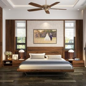 Giường gỗ óc chó