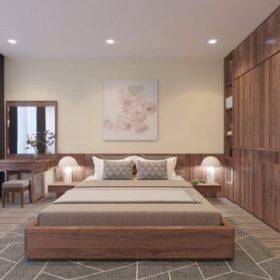 Nội thất phòng ngủ gỗ óc chó