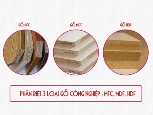 So sánh gỗ MFC và MDF