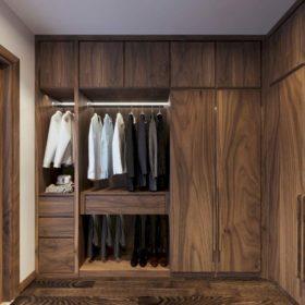 Tủ quần áo gỗ óc chó