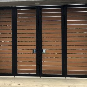 cổng hàng rào gỗ nhựa Composite