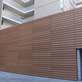 Nhựa ốp tường gỗ ngoài trời