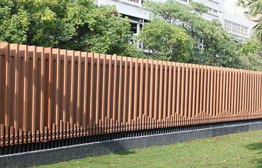 hàng rào bằng gỗ nhựa composite