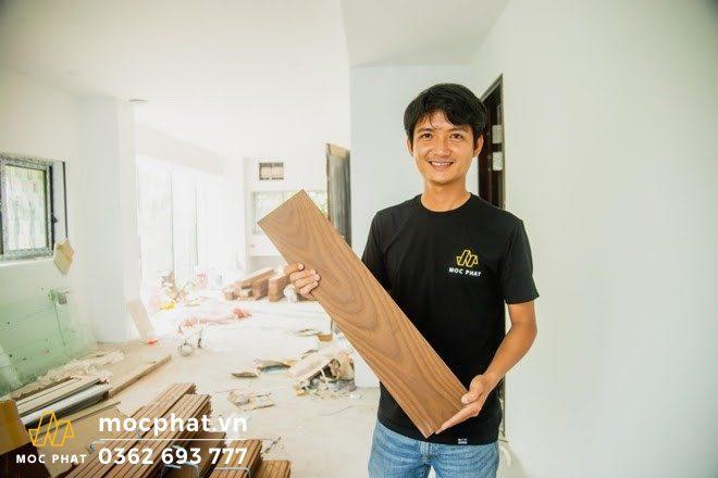 Mộc Phát chuyên thi công sàn gỗ tần bì biến tính chất lượng cao