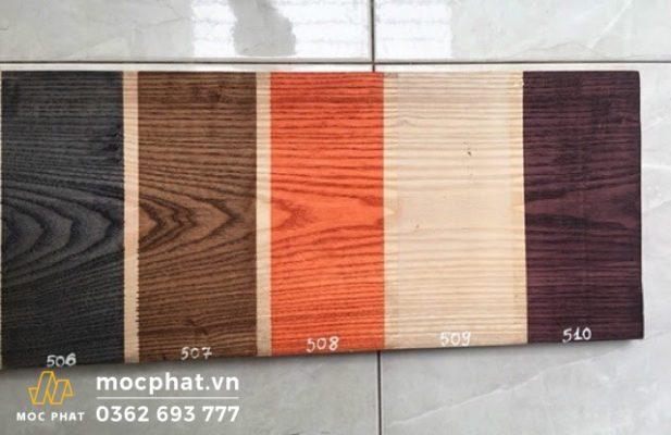 Bảng màu đa dạng của sơn lau gỗ Wood Stain gốc dầu