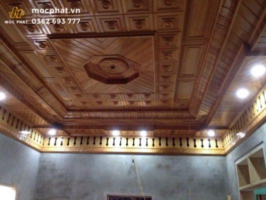 Lắp đặt trần gỗ pơ mu- sự lựa chọn hoàn hảo