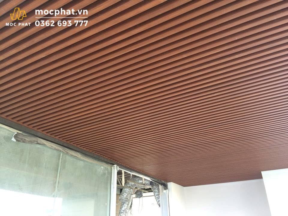 Trần nhà bằng nhựa Composite đẹp