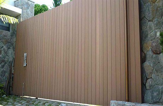 Ốp cửa cổng bằng gỗ nhựa Composite