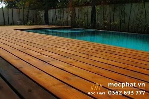 Sàn gỗ Thermo Thông ngoài trời