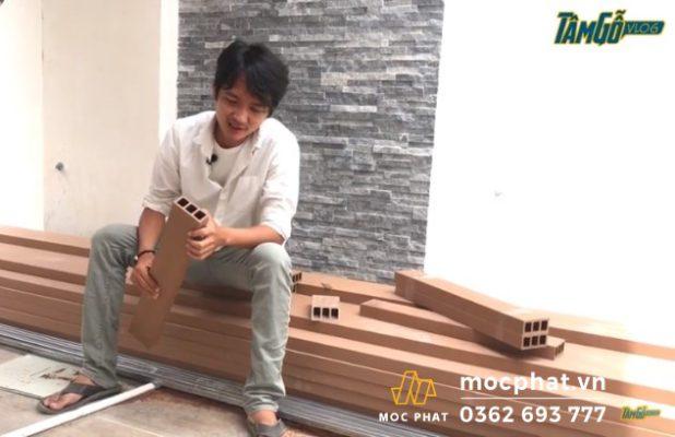 Hình 1- Lựa chọn lam gỗ nhựa chia 3 ngăn