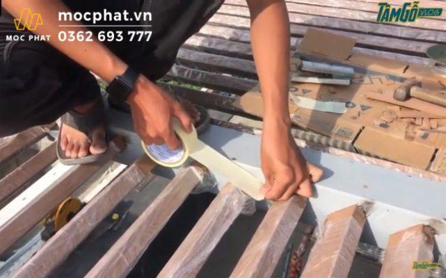 Hình 10 - Sử dụng keo giấy để bịt kín đầu lam