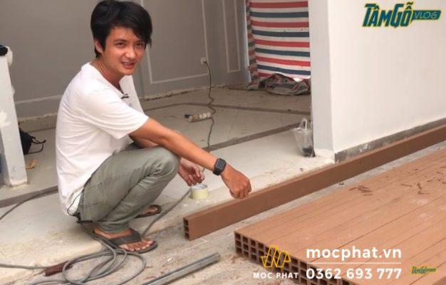 Hình 1 - Chuẩn bị gỗ nhựa Composite