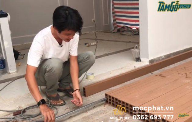 Vách trang trí bằng gỗ nhựa